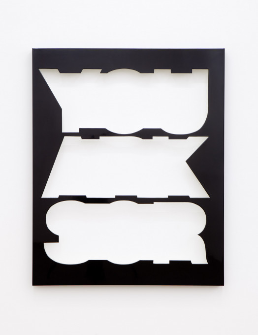 2011, wood, high gloss lacquer, 123 x 100 x 6 cm